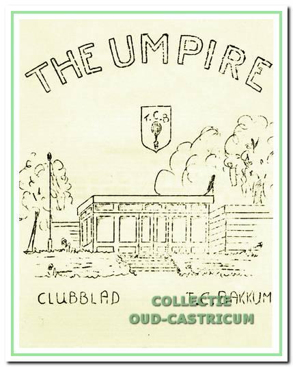 De omslag van de eerste 'Umpire', die in maart 1957 uitkwam.