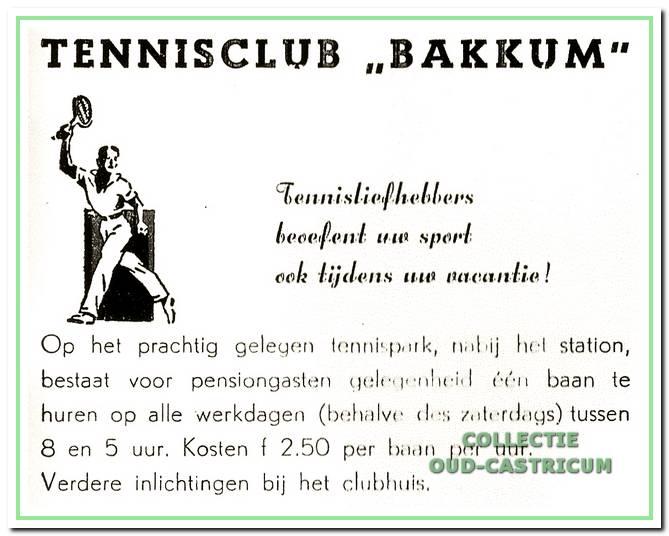 Advertentie uit de Hotel- en pensiongids van de VVV uit 1957.
