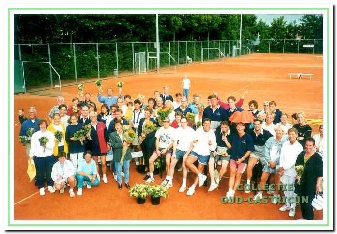 De finalisten van het 'Bakkum Dubbeltoernooi' in 1998.