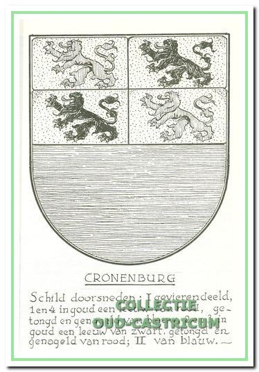 Het wapen van de Heerlijkheid Cronenburg