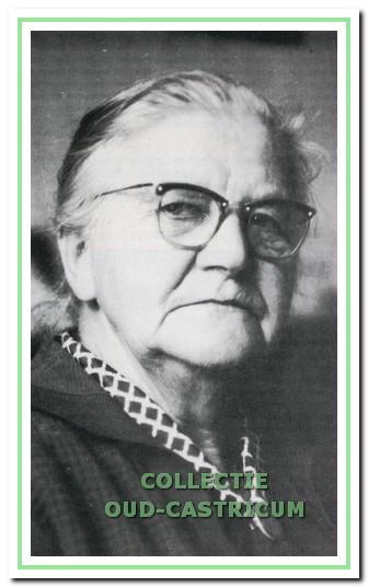 Tante Sientje op ca. 75-jarige leeftijd.