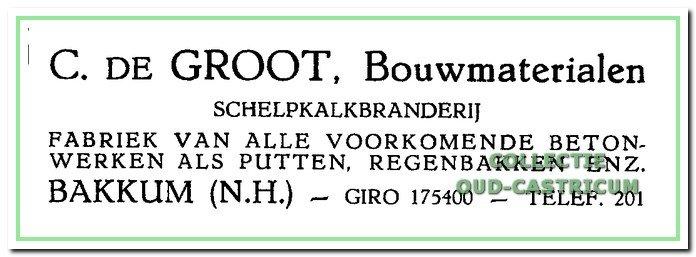 Schelpkalkbranderij en bouwmaterialen C. de Groot.