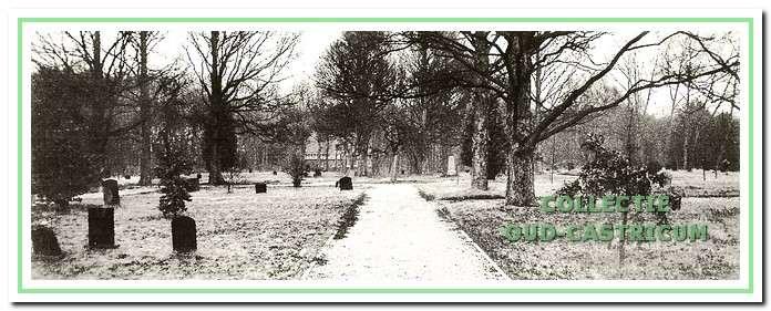 De oude graven, de schelpenpaadjes en de monumentale iepen geven de niet meer in gebruik zijnde begraafplaats een mysterieuze en rustige sfeer.