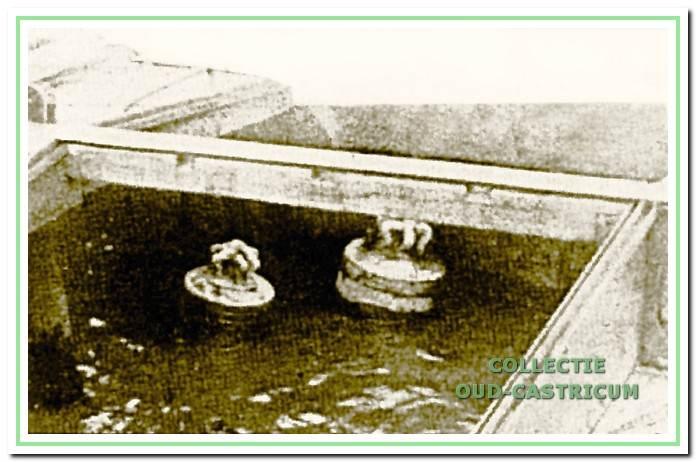 De klokken in het ruim van het gezonken klipperschip 'Hoop op Zegen'.