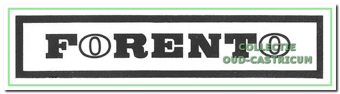 Het logo van Forento, heliend van de twee open o's.