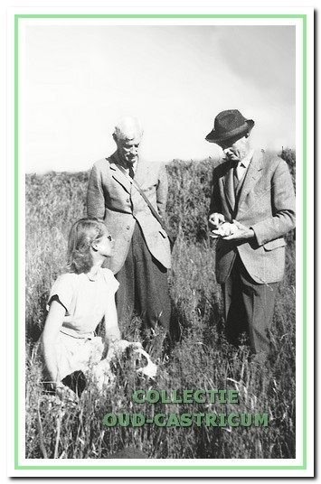 De jonkheren Daan en Frits en freule Christine de Vos van Steenwijk (1952).