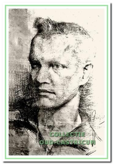Tekening gemaakt door Reyer van de Haar van Leo Toepoel, gemaakt op de muur van zijn cel op 10 december 1944, drie dagen voor zijn dood.