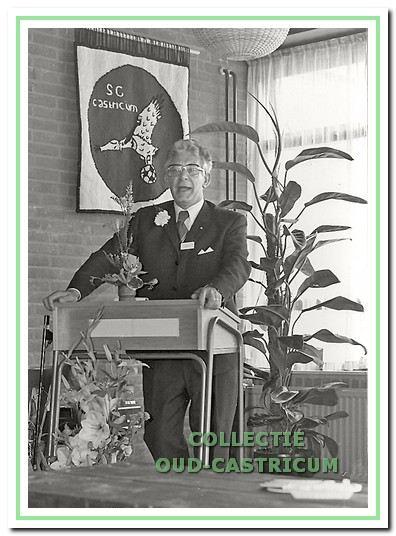 Jan Kok, de eerste voorzitter van SCC.