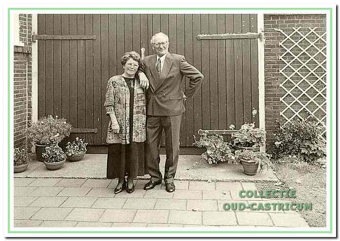 Het echtpaar Joh Duijn en Margaretha Gijzen.