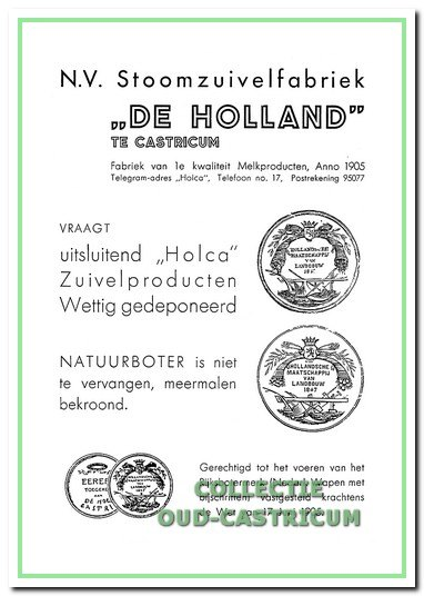 Advertentie van De Holland in 1936. (rechts hoven)