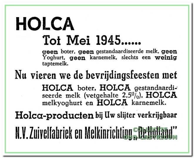 Advertentie in het Nieuwsblad voor Castricum d.d. 29 augustus 1945.