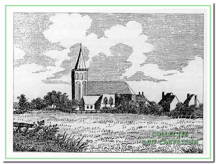 Deze tekening geeft een indruk van de Gereformeerde Kerk (nu Hervormde Kerk) van Castricum en zijn directe omgeving omstreeks 1737, zoals gezien in noordelijke richting vanaf een plek bezuiden de kerk.