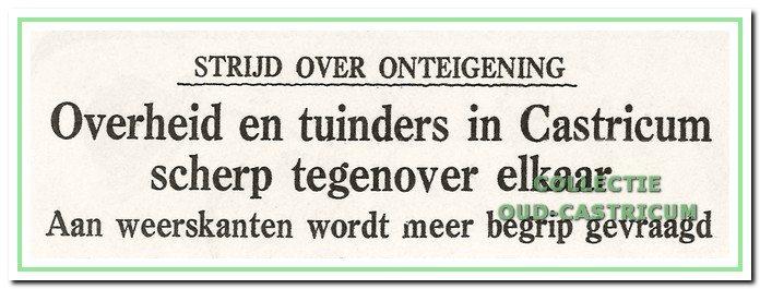 De kop van een bericht in het Dagblad Kennemerland van 17 april 1953.