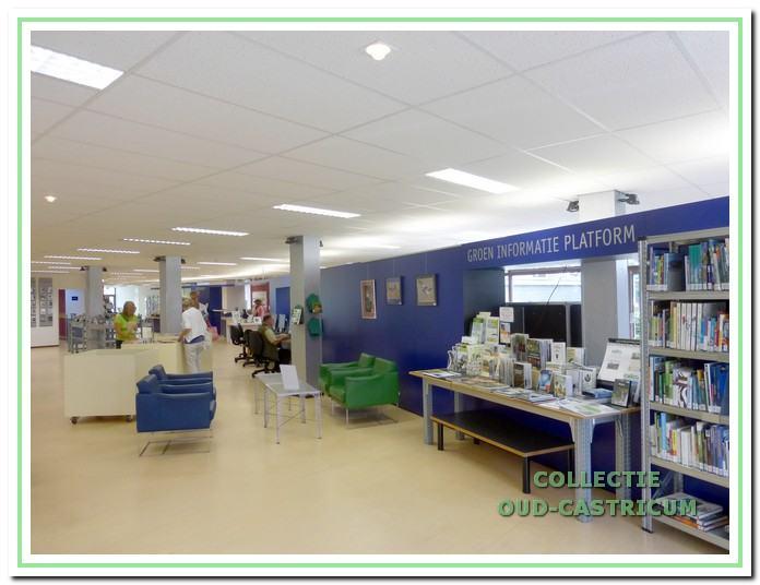 De bibliotheek na de herinrichting in 1995. Rechts het 'Groen Informatie Platform' van de organisaties die zich bezig houden met duurzaamheid, groen en milieu.