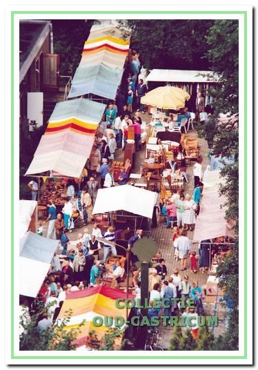 Altijd drukte op de bazaars.