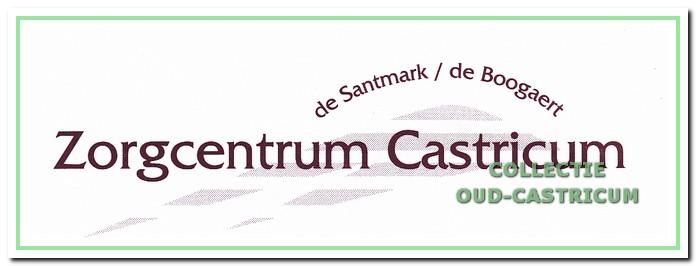 Het Logo van 'Stichting Zorgcentrum Castricum' De Boogaert en de Santmark.
