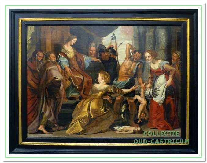 Het uit de vroege 17e eeuw daterende schilderij het Salomons Oordeel is vermoedelijk al 400 jaar in bezit van de gemeente Castricum. Volgens overlevering hing het in het kantoor van de schout.