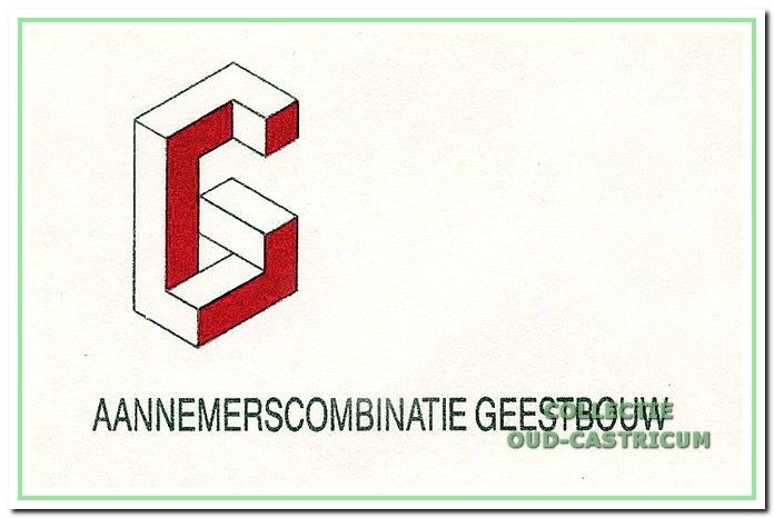 Het logo van de aannemerscombinatieGeestbouw.