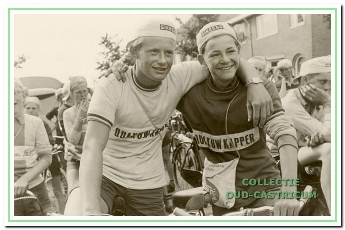 Jan Brakenhoff eindigde in 1958 in de gele trui en Jan van de Wetering veroverde het rode tricot.