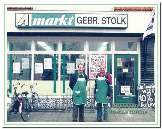 De broers Hans en Piet Stolk vlak voordat zij stopten in 1998.