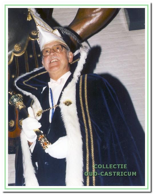 Han Knebel als Prins Carnaval.