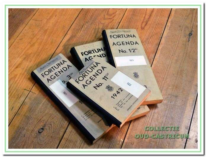 De logboeken van 1940 tot en met 1943.