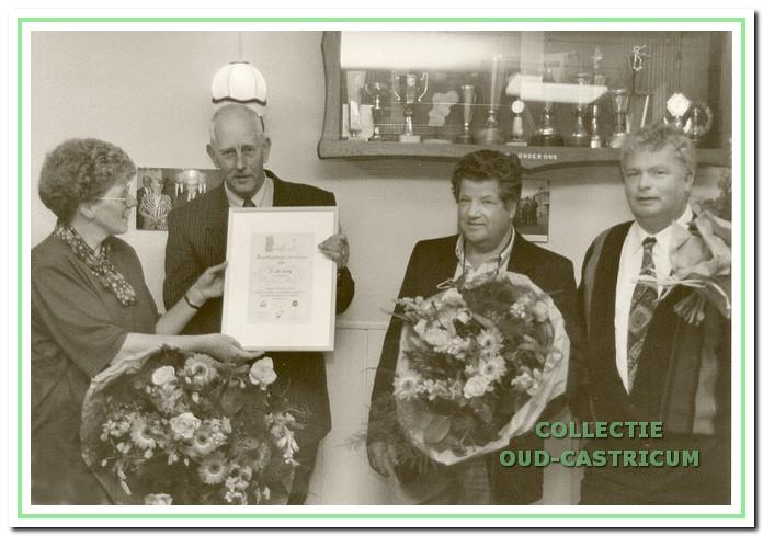 De jeugdbegeleiders van de HVC in 1993.