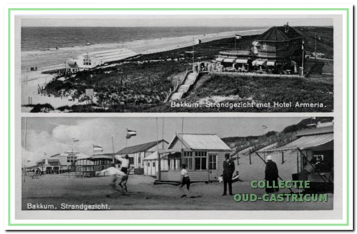 Strandgezicht met badhotel 'Armeria' in 1937.