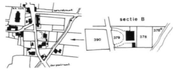 Zorgvlied kadastrale kaart sectie B