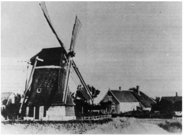 De reeds vele jaren geleden afgebroken achtkante korenmolen te Limmen; de Castricumse molen gebouwd in ongeveer dezelfde periode zal waarschijnlijk van hetzelfde type zijn geweest.