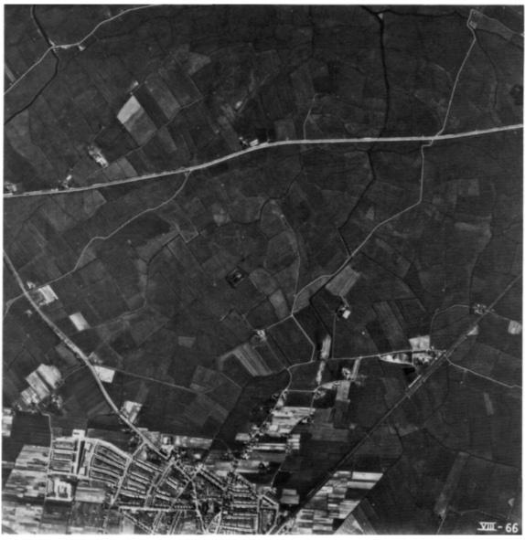 Een luchtfoto van het Castricumse polderland uit 1958.