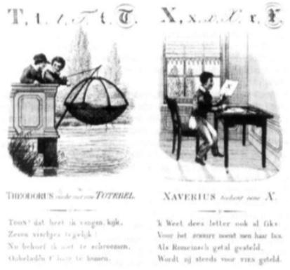 Leesboekje begin 19e eeuw.