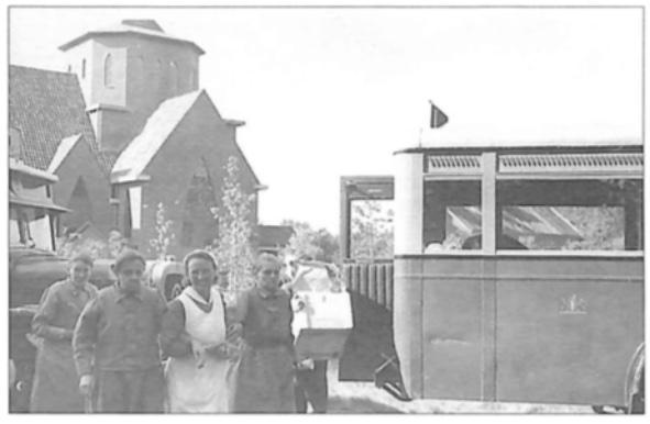 De aankomst in juni 1942De aankomst in juni 1942 op 'Coudewater' te Rosmalen.