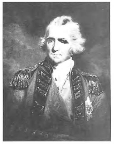 De Engelse luitenant-generaal Sir Ralph Abercromby, bevelhebber van de Engelse landstrijdkrachten.