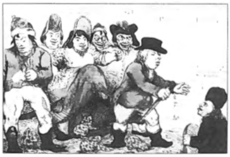 Bij de Engelse legerleiding bestond over de bereidheid van de Noord-Hollandse bevolking tot spontane hulp bij het afschudden van het Franse juk een vertekend beeld, men dacht een bevrijdingsoorlog te voeren. Willem V had vanuit Engeland niets nagelaten om dit beeld te versterken. Na het mislukken van de expeditie verschenen in de Engelse pers dan ook spotprenten, zoals de bovenstaande. De Hollanders voelen zich goed in de Franse kledij ('No more Large Breeches, Sans Culottes for Ever') en jagen Willem V weer weg .