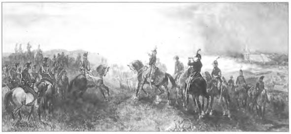 De 'Slag bij Castricum' aquarel door Charles Rochussen.
