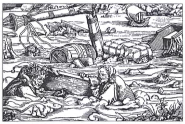 Schipbreukelingen in de middeleeuwen.