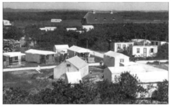 Overzicht vanaf het dak van Loods 1 in 1937.
