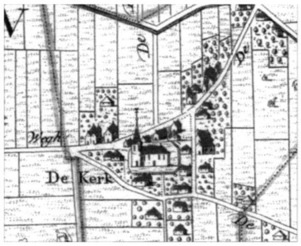 Fragment van de kaart 'De Heerlykheid van Castricum' uit 1737.