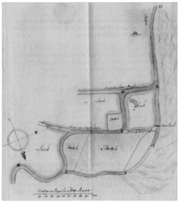 Het nieuwe plan uit 1784.