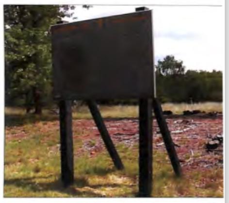 Informatiebord over de buurtschap De Bunt in het Nationale park De Hoge Veluwe.