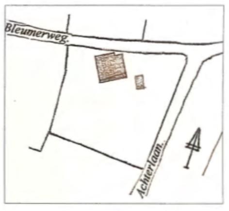 De ligging aan de Bleumerweg.