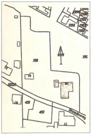 De ligging aan de Breedeweg.