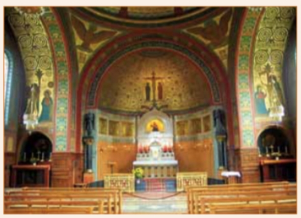 Het Benedictijner klooster in Beuron bevat deze prachtige kapel die is gebaseerd op de kunsttheorie van monnik Dom Desiderius Lenz.