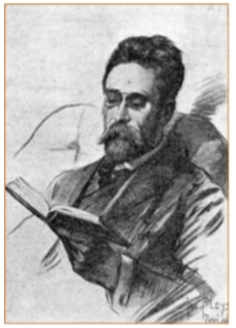 Portret van Jan Stuyt, in 1906 getekend door Jan Bleijs, zoon van architect Adrianus Bleijs, die Stuyt's leermeester was.
