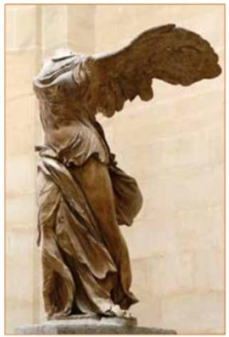 Nike van Samothrace, Louvre.