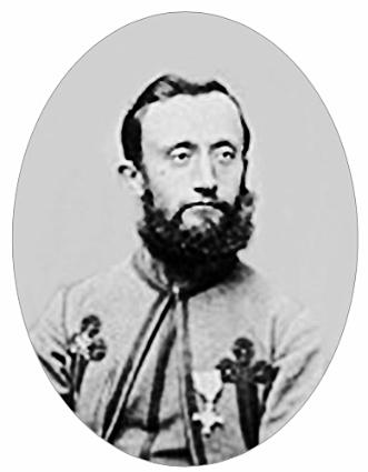 Zouaaf Johannes Visser (1836-1857) met onderscheiding voor zijn deelname aan de slag bij Mentana.