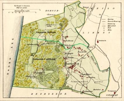 Kaart uit 1867.