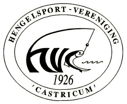 Logo Hengelsport-vereniging 'Castricum'.