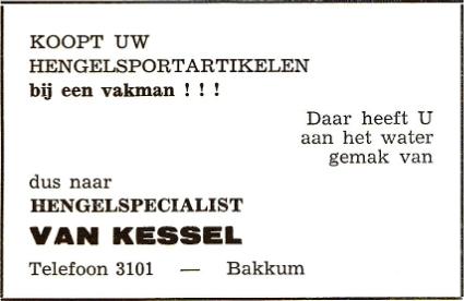 Advertentie Piet van Kessel.